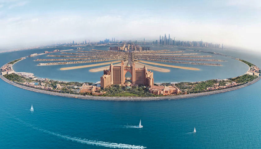 Atlantis, The Palm Dubai aerial view